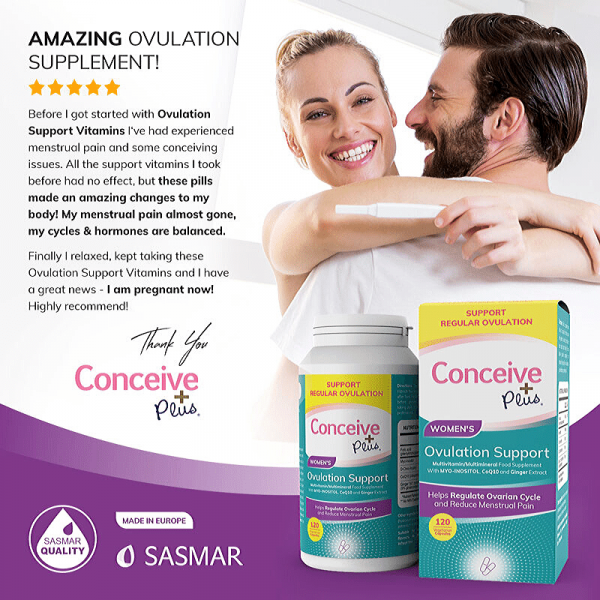 Conceive Plus revisão Ovulation Support for PCOS dietary supplement pills from Amazon
